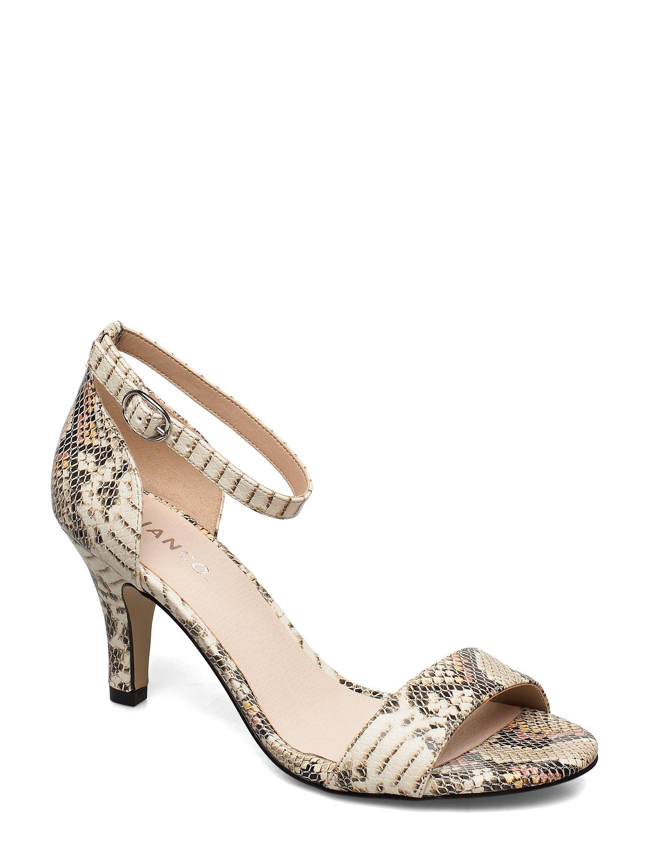 Image of Biaadore Basic Sandal Sandal Med Hæl Multi/mønstret Bianco (3350046127)