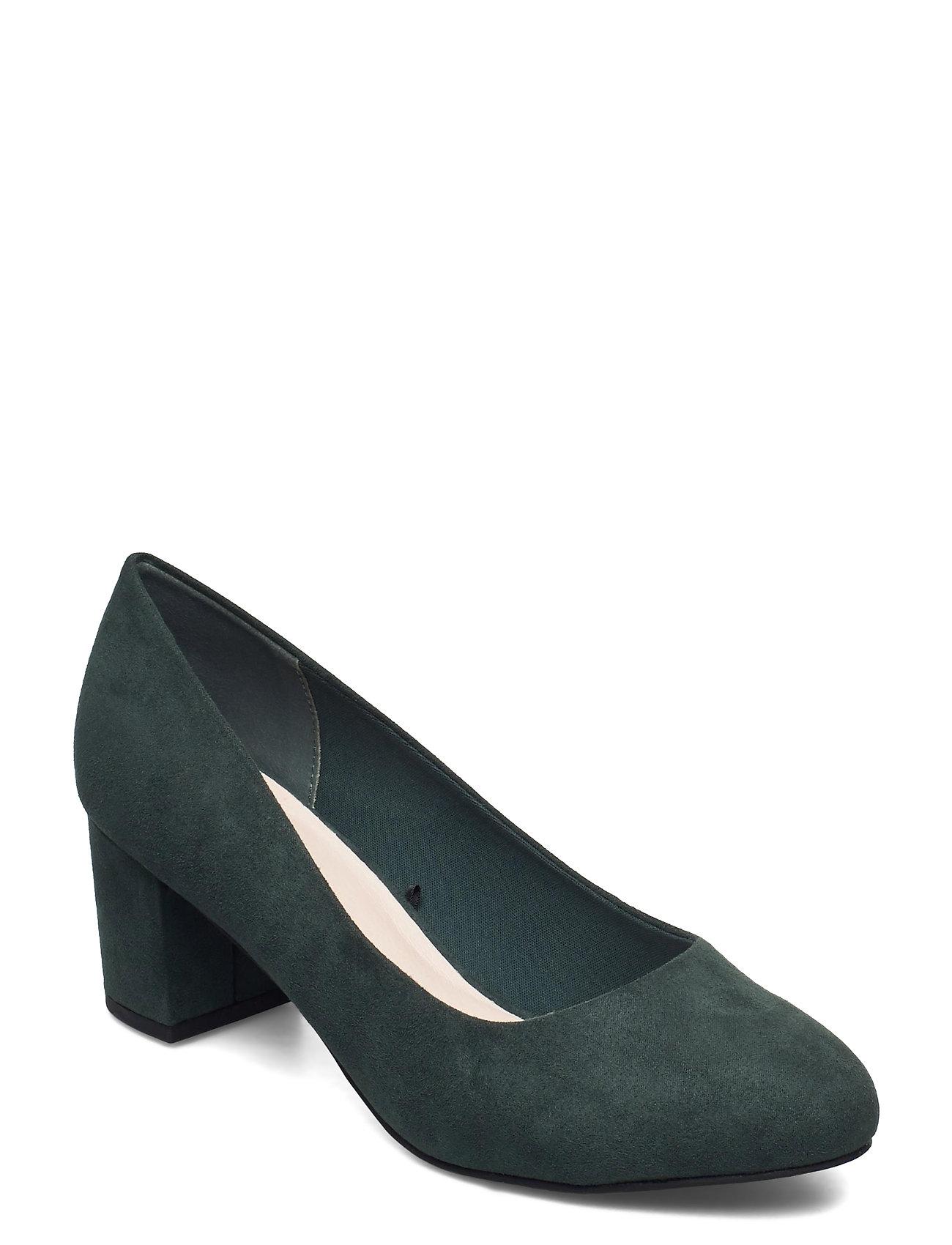 Biablanche Blok Heel Pump Wf Shoes Heels Pumps Classic Grøn Bianco
