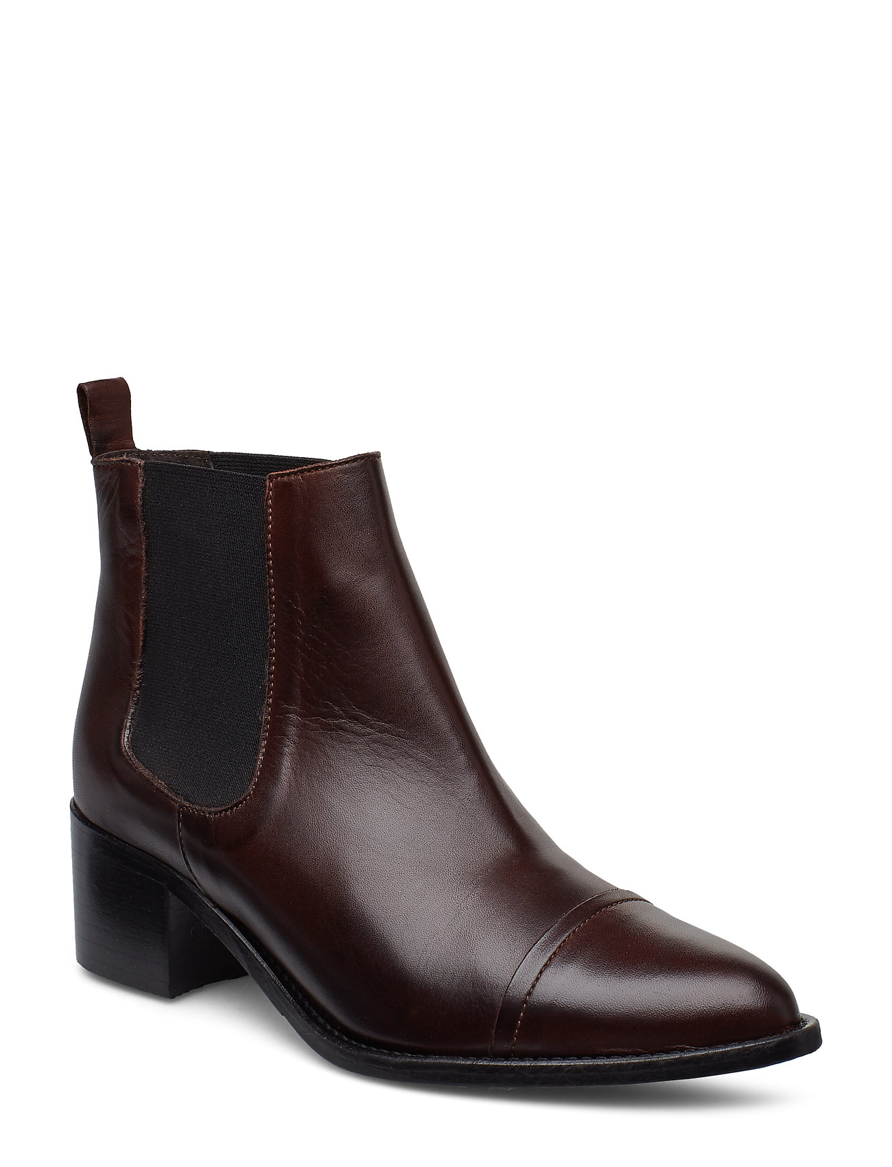 Image of Biacarol Dress Chelsea Shoes Boots Ankle Boots Ankle Boot - Heel Brun Bianco (3416435631)