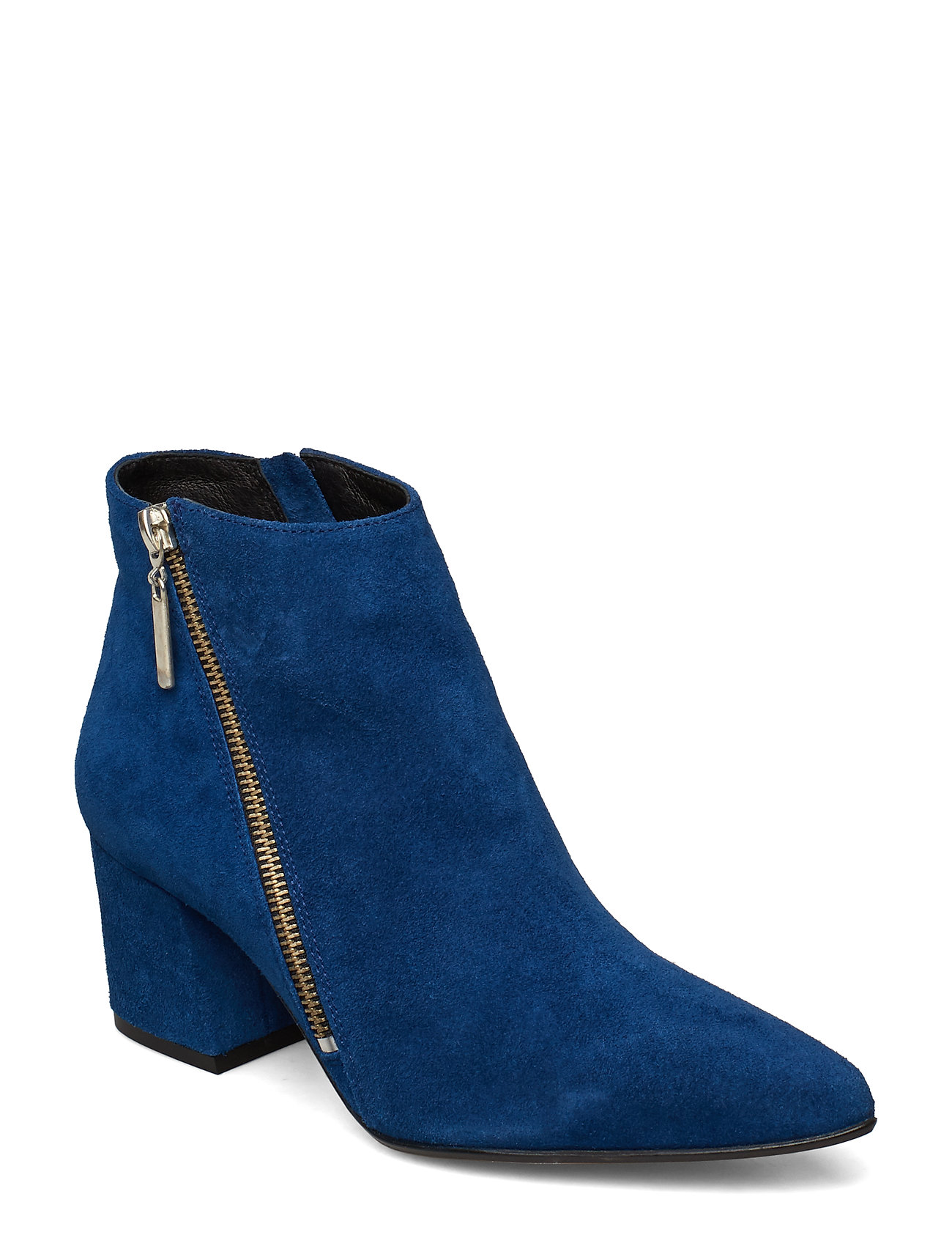 Image of Biacalais Suede Ankle Boot Shoes Boots Ankle Boots Ankle Boots With Heel Blå Bianco (3195668677)