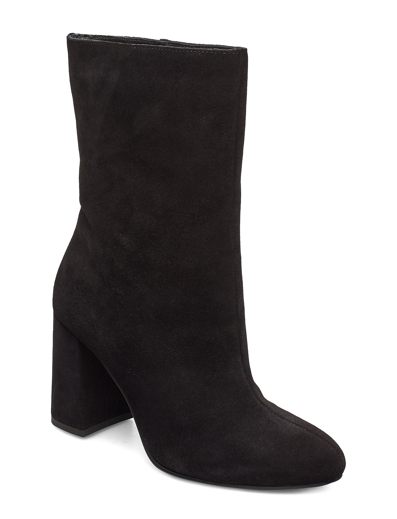 Image of Biacandice Suede Tube Boot Shoes Boots Ankle Boots Ankle Boot - Heel Sort Bianco (3413103739)