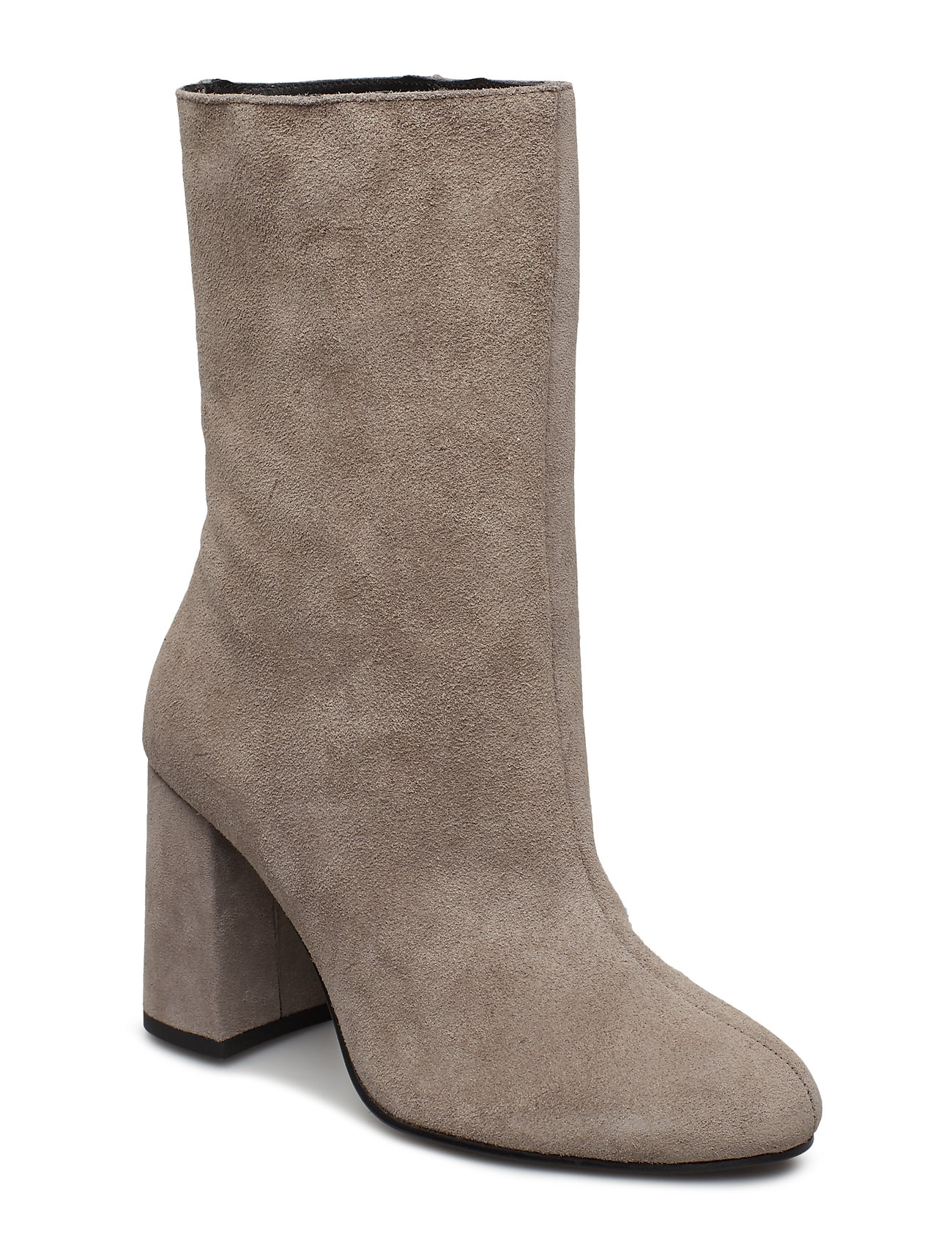 Image of Biacandice Suede Tube Boot Shoes Boots Ankle Boots Ankle Boot - Heel Beige Bianco (3413099669)