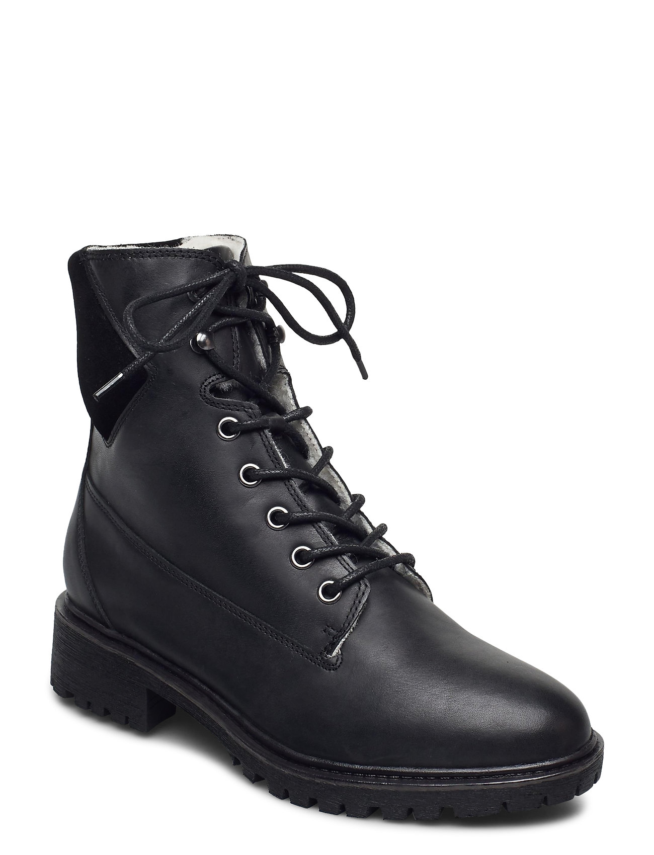 Image of Biacheryl Winter Warm Boot Shoes Boots Ankle Boots Ankle Boot - Flat Sort Bianco (3473872507)