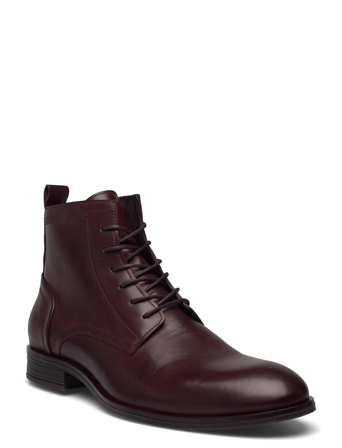 Biabyron Leather Lace Up Boot Snørestøvler Brun Bianco