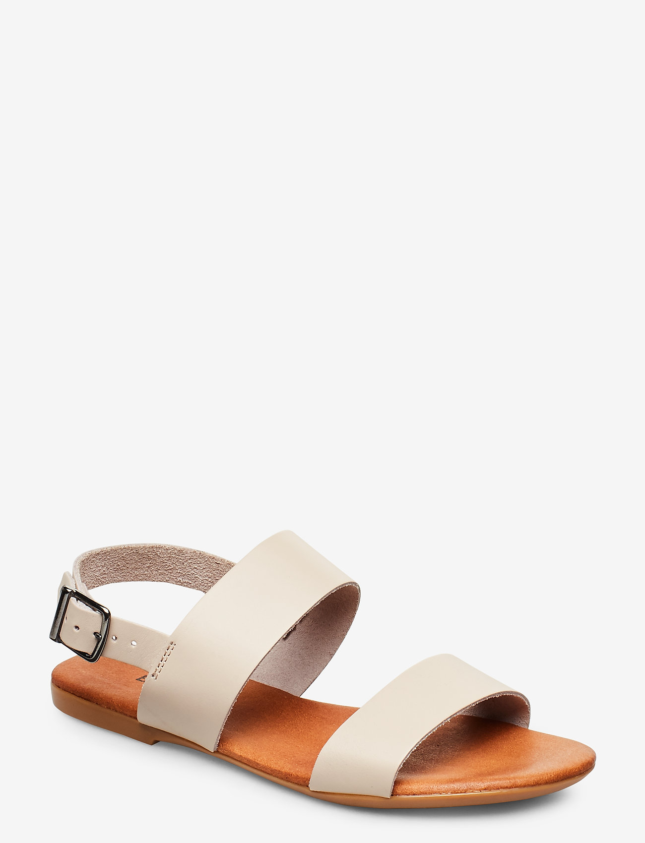 Bianco - BIABROOKE Basic Leather Sandal - flat sandals - natural