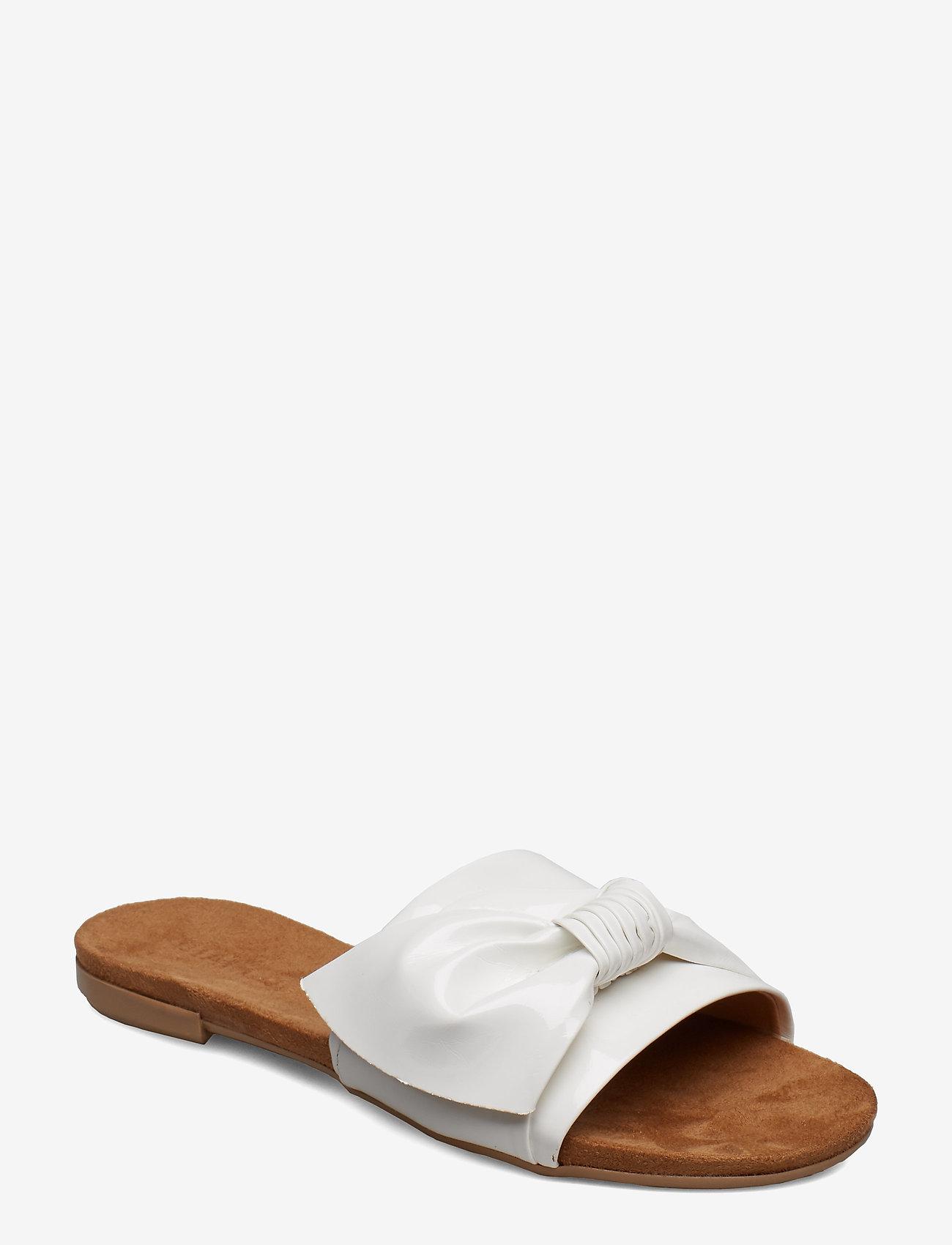 Bianco - BIABONNIE Assym. Bow Slide - sandales - white 3 - 0