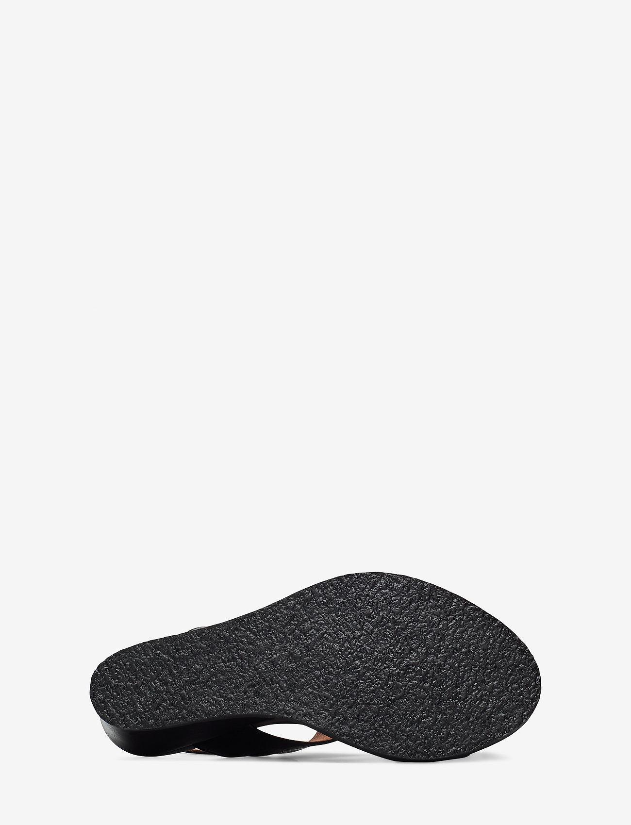 Biacaily Leather Wedge Sandal (Black) (64.99 €) - Bianco u2fEF