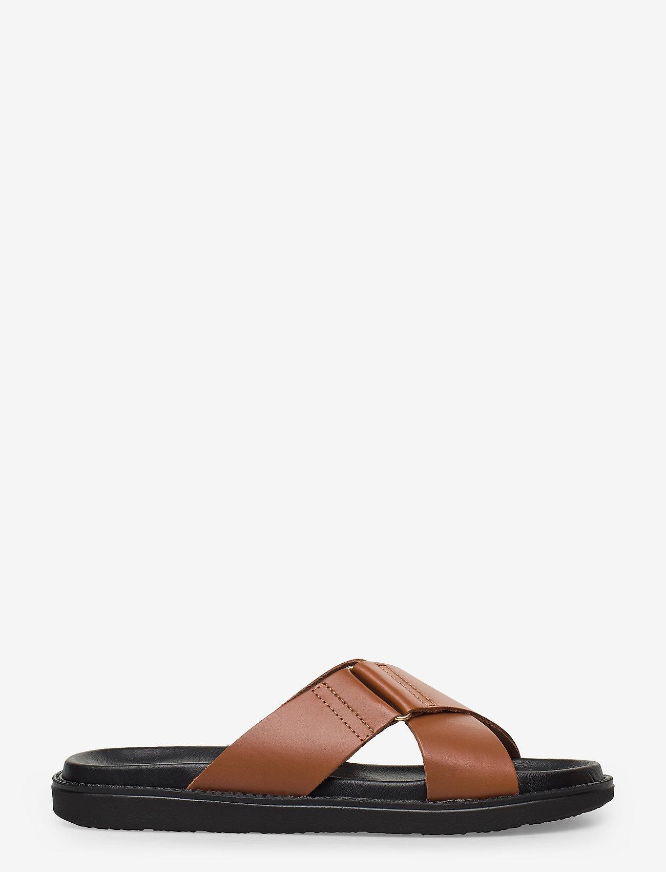 Bianco - BIADEBBIE Leather Cross Sandal - sandales - cognac - 1