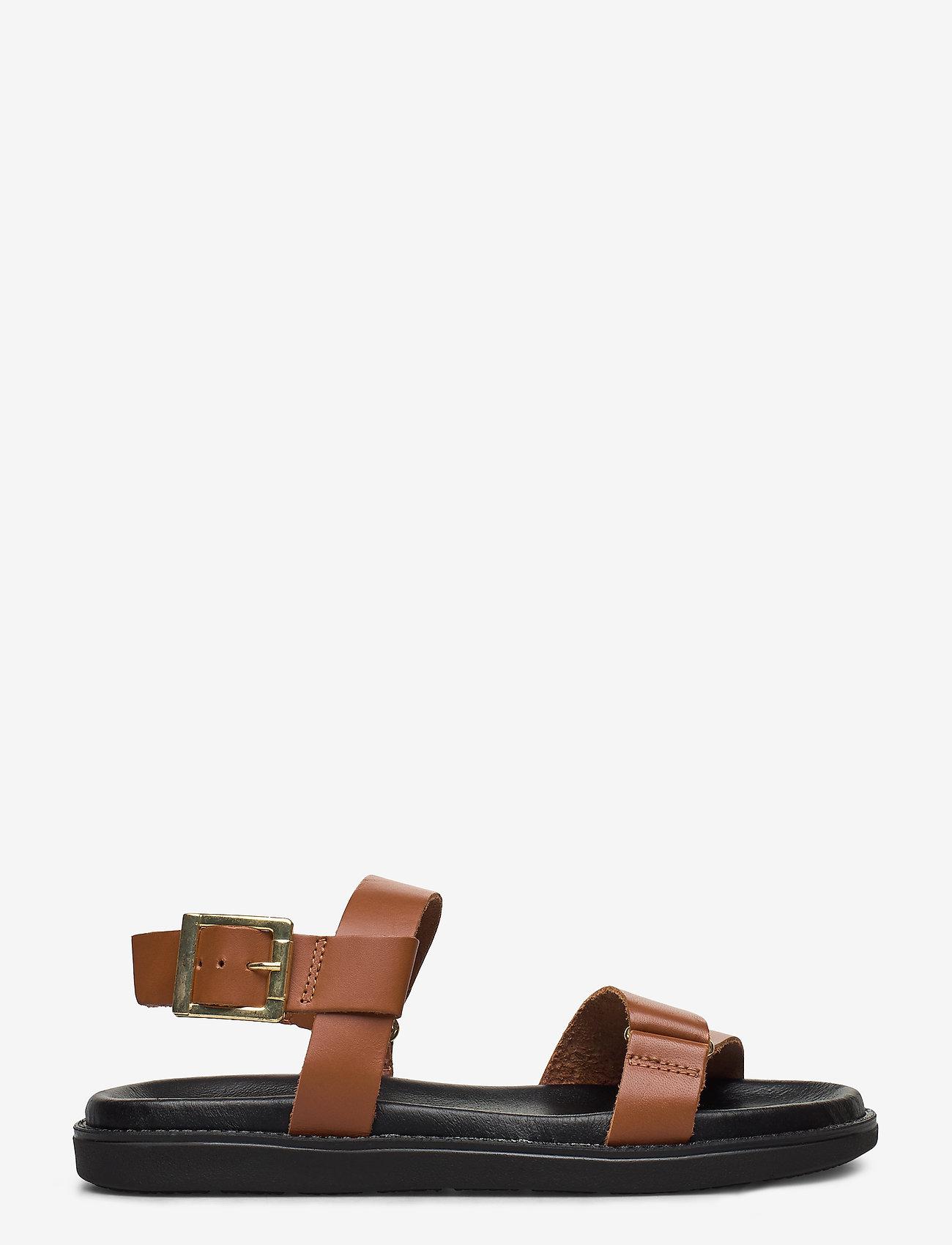 Bianco - BIADEBBIE Leather Strap Sandal - sandales - cognac - 1
