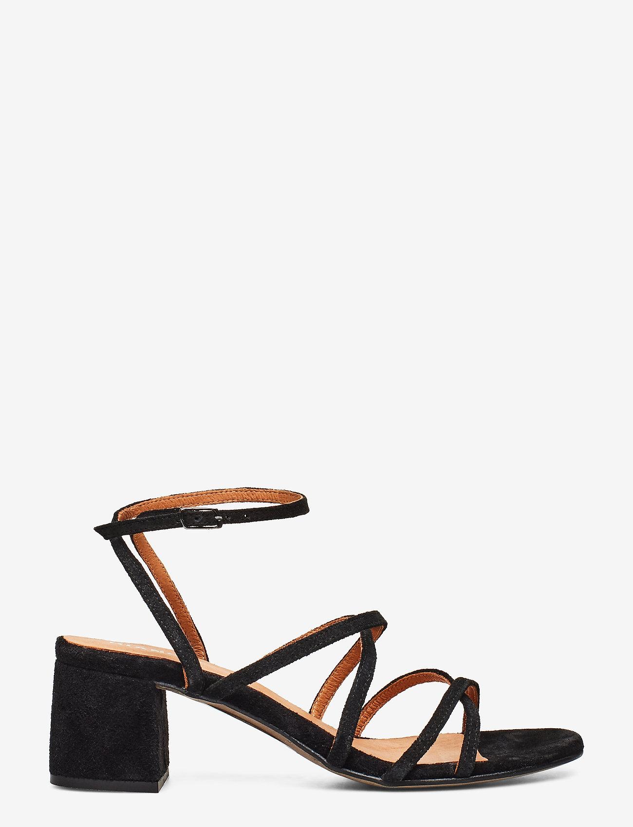 Bianco - BIADAYTON Suede Strap Sandal - sandales à talons - black 1 - 1