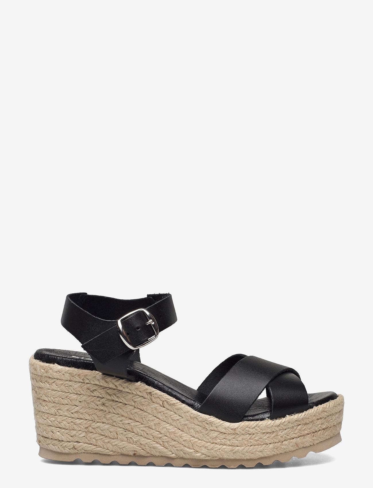 Bianco - BIADANEEN Sandal - espadrilles mit absatz - black - 1