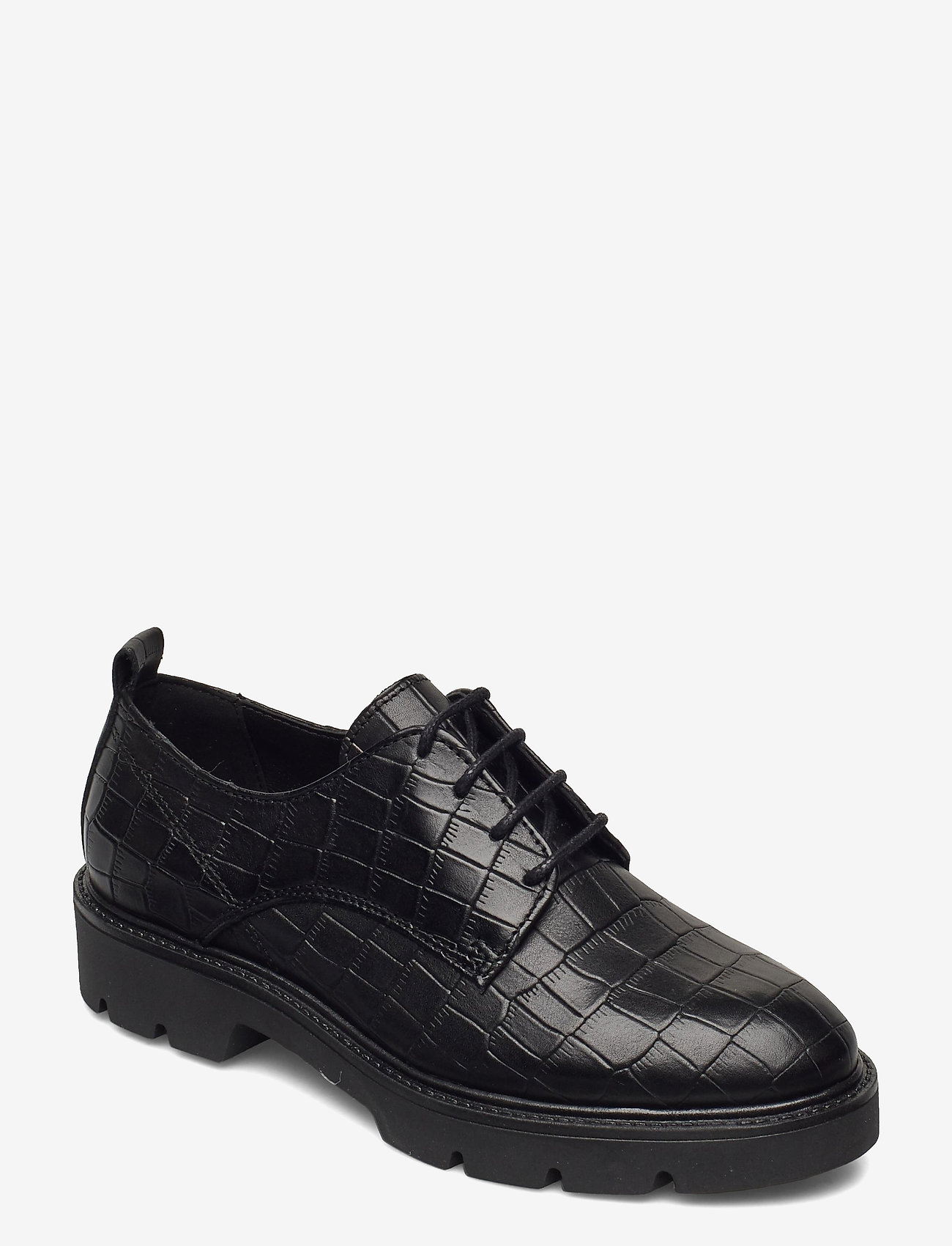 Bianco - BIACALDER Leather Shoe - snörskor - black 9 - 0