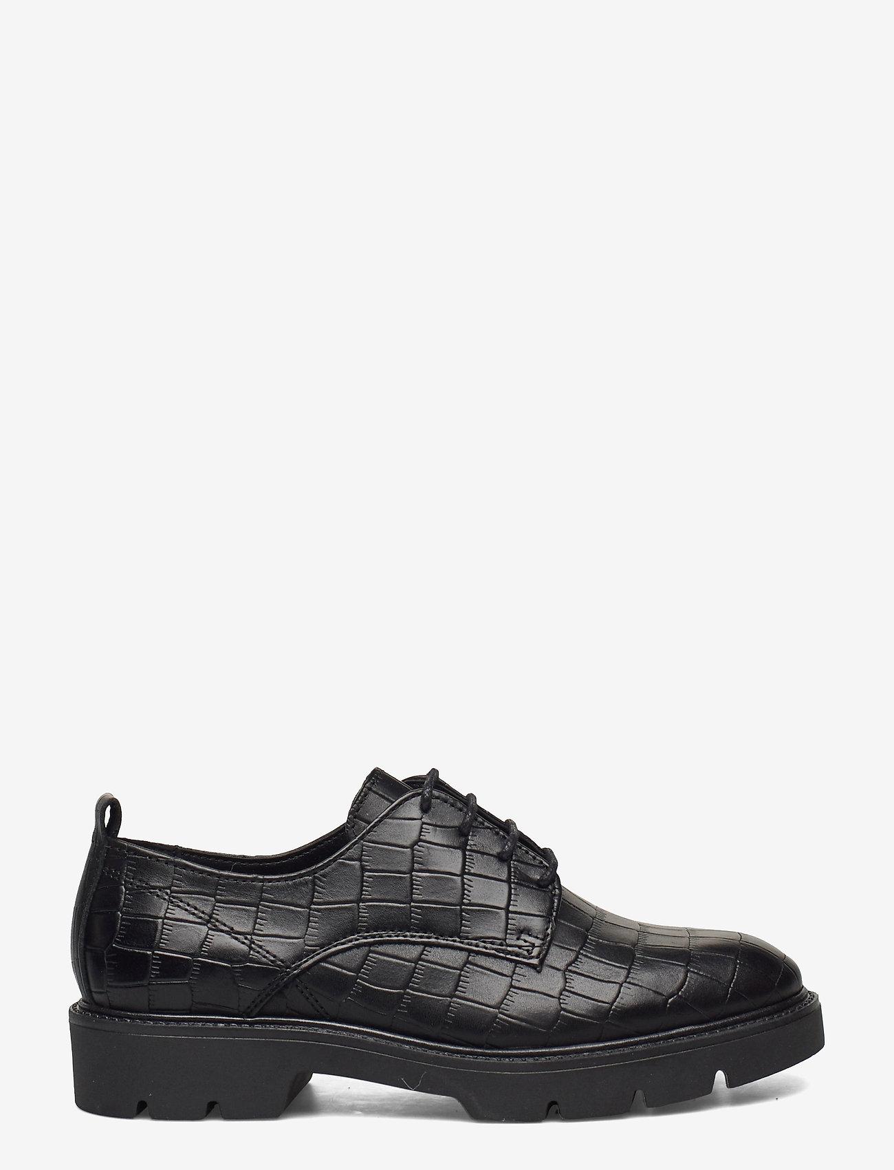 Bianco - BIACALDER Leather Shoe - snörskor - black 9 - 1
