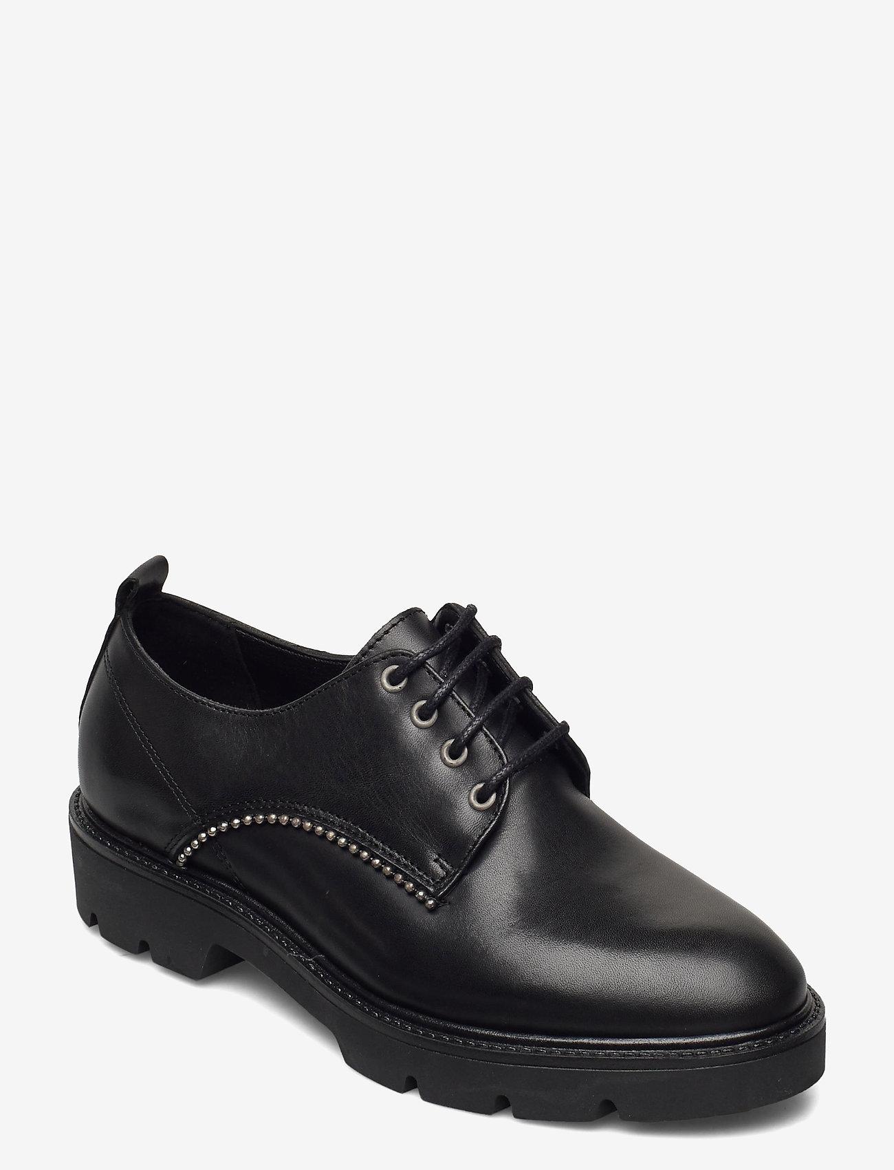 Bianco - BIACALDER Leather Shoe - schnürschuhe - black - 0