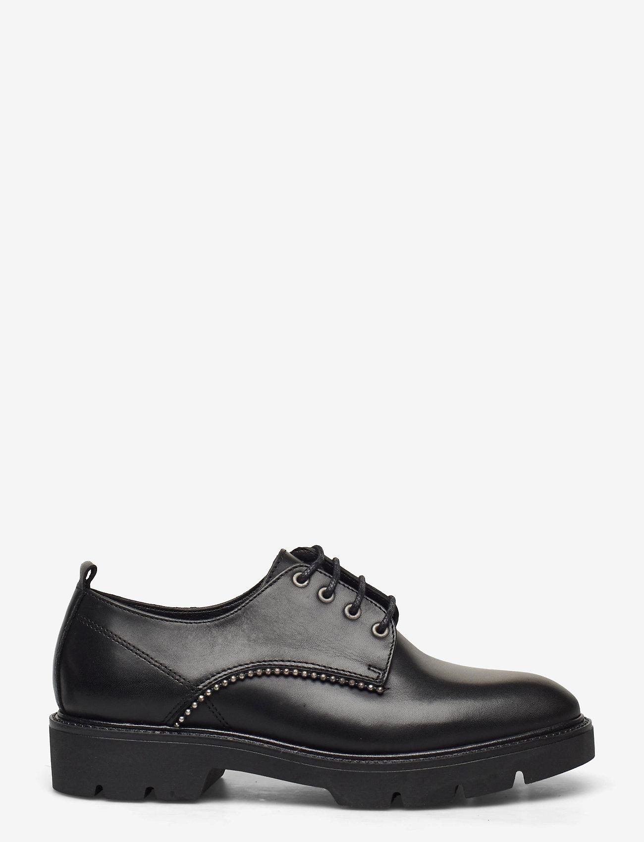 Bianco - BIACALDER Leather Shoe - schnürschuhe - black - 1