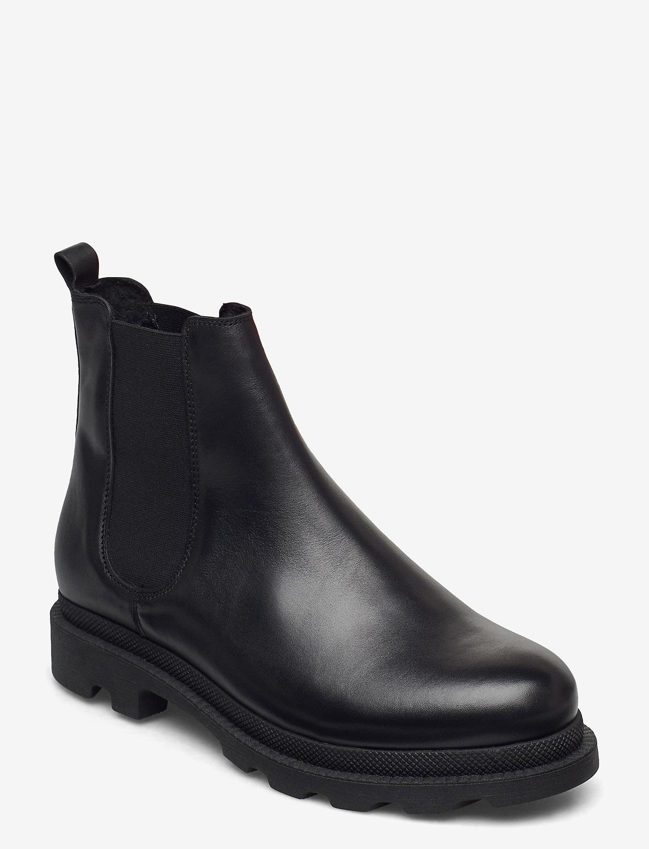 Bianco - BIACYAN Leather Chelsea Boot - chelsea boots - black - 0