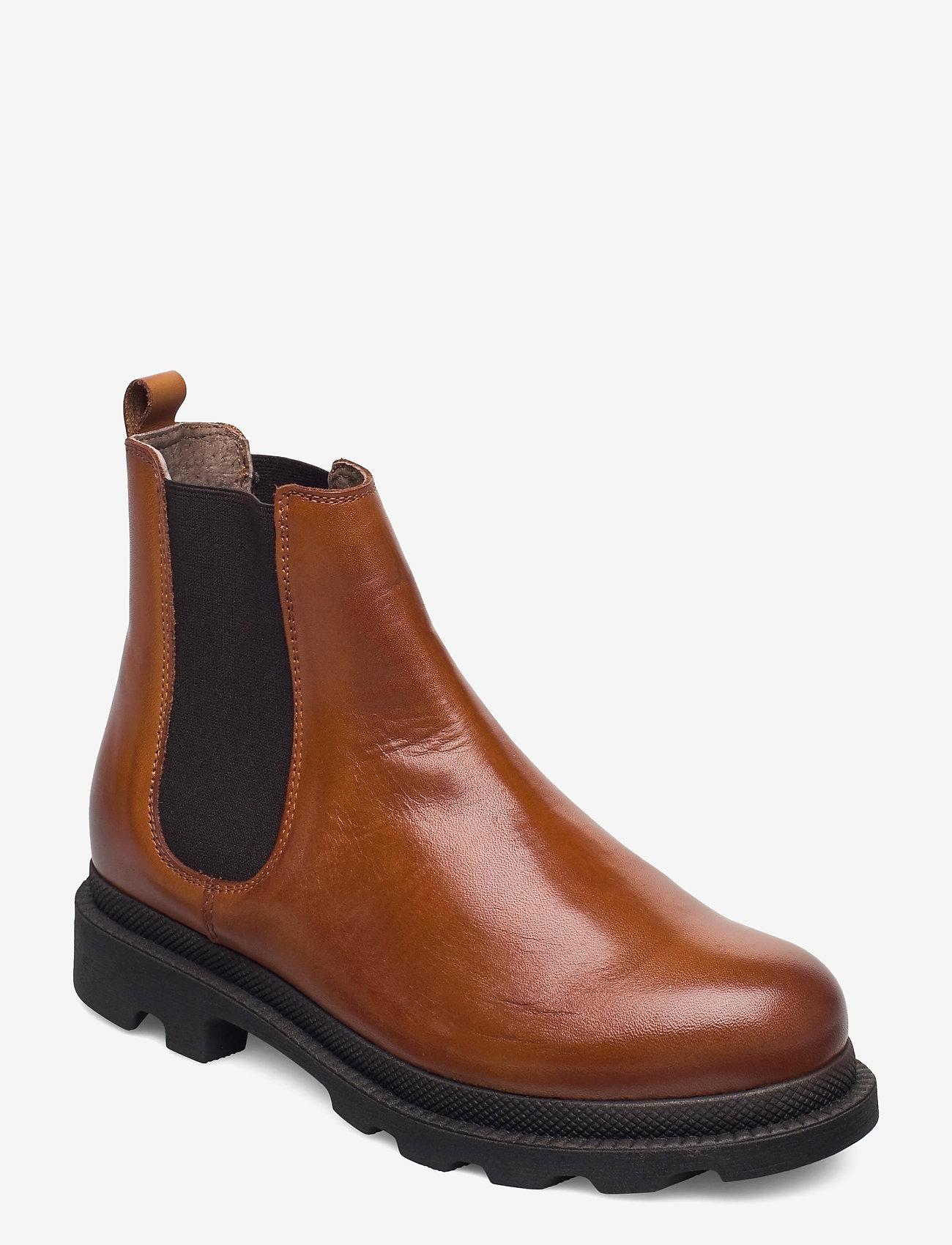 Bianco - BIACYAN Leather Chelsea Boot - cognac - 0