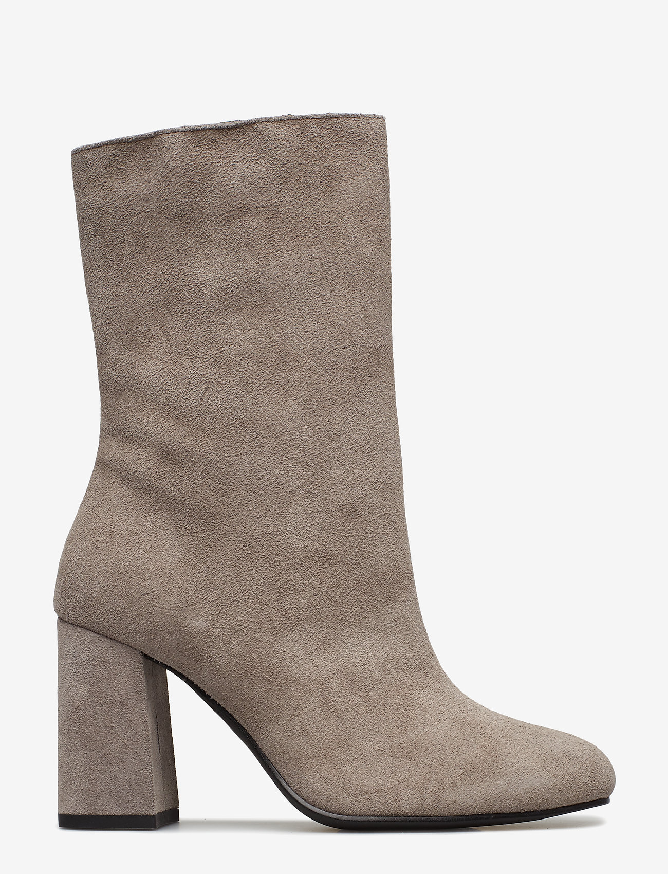 Bianco - BIACANDICE Suede Tube Boot - ankle boots with heel - warm grey