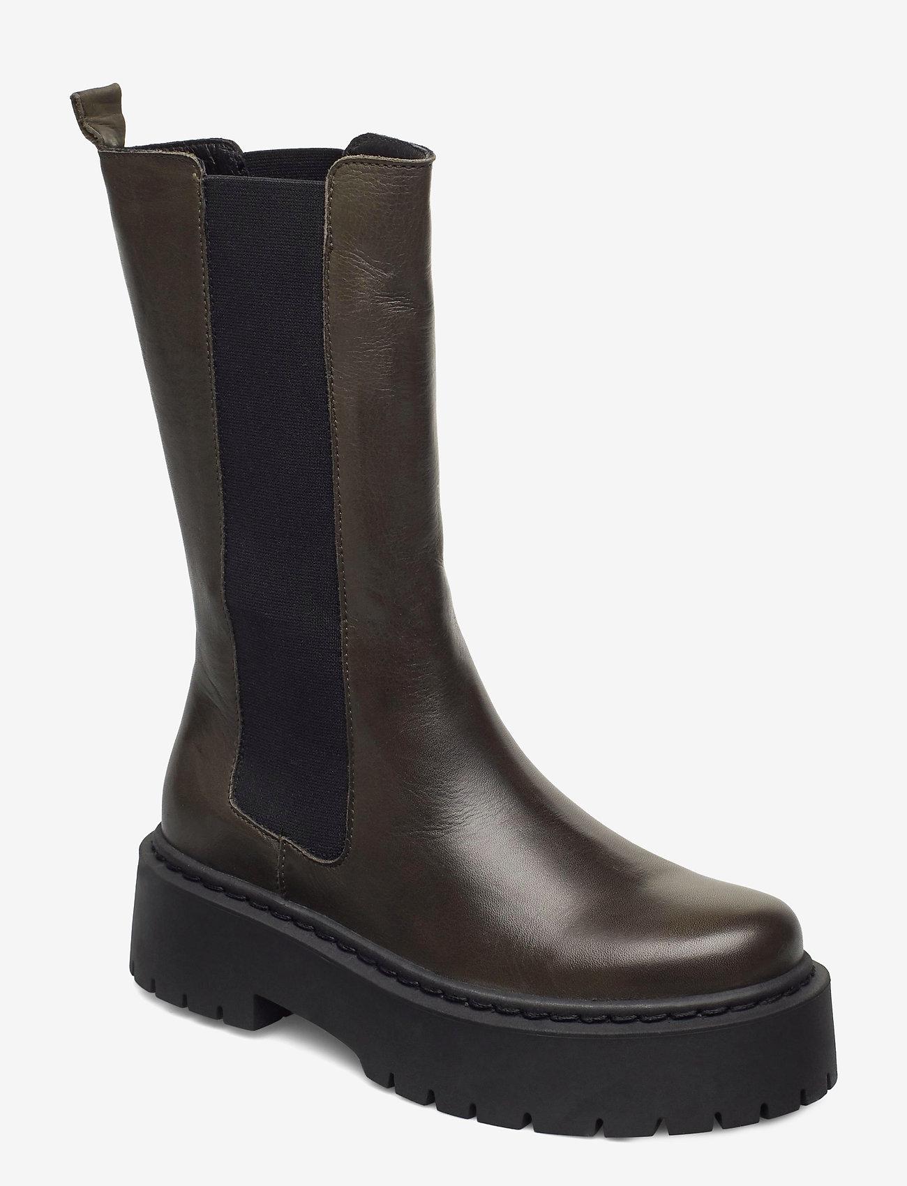 Bianco - BIADEB Long Boot - platte enkellaarsjes - khaki - 0