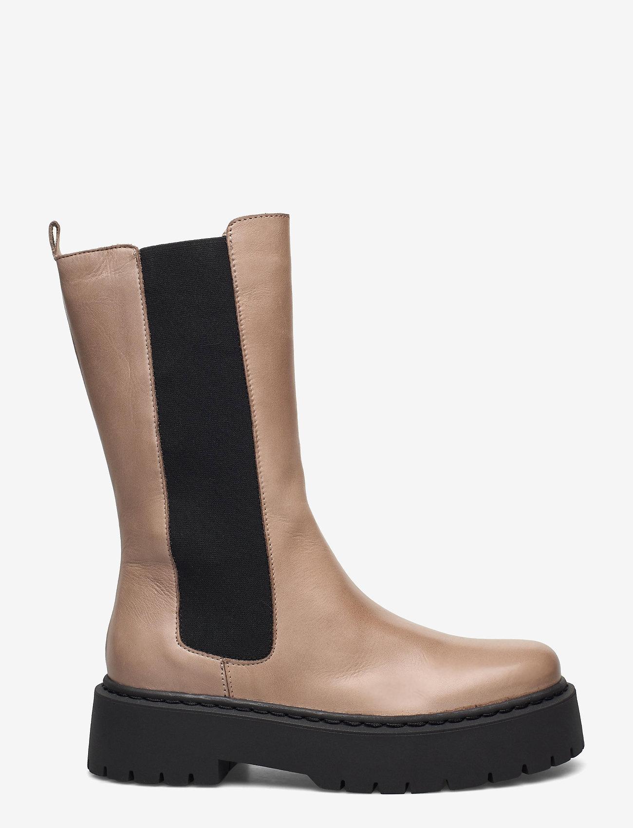 Bianco - BIADEB Long Boot - platte enkellaarsjes - light brown 6 - 1
