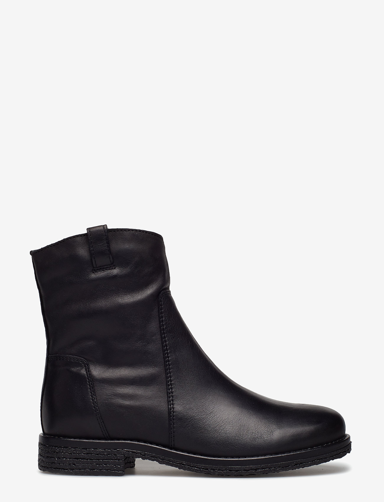 Bianco - BIAATALIA Winter Leather Boot - flat ankle boots - black - 1