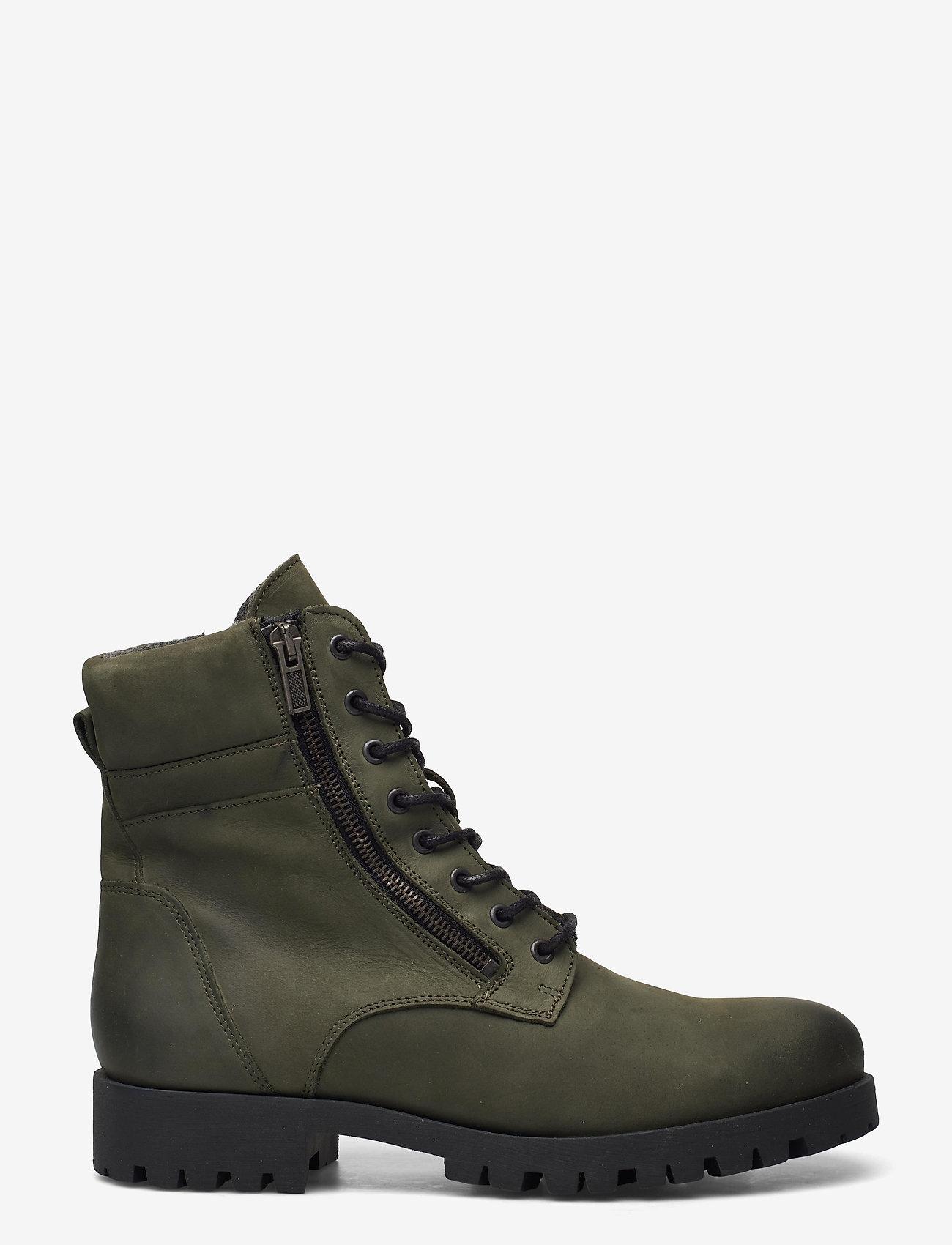 Bianco - BIACOLLINS Winter Leather Boot - platte enkellaarsjes - army green 2 - 1