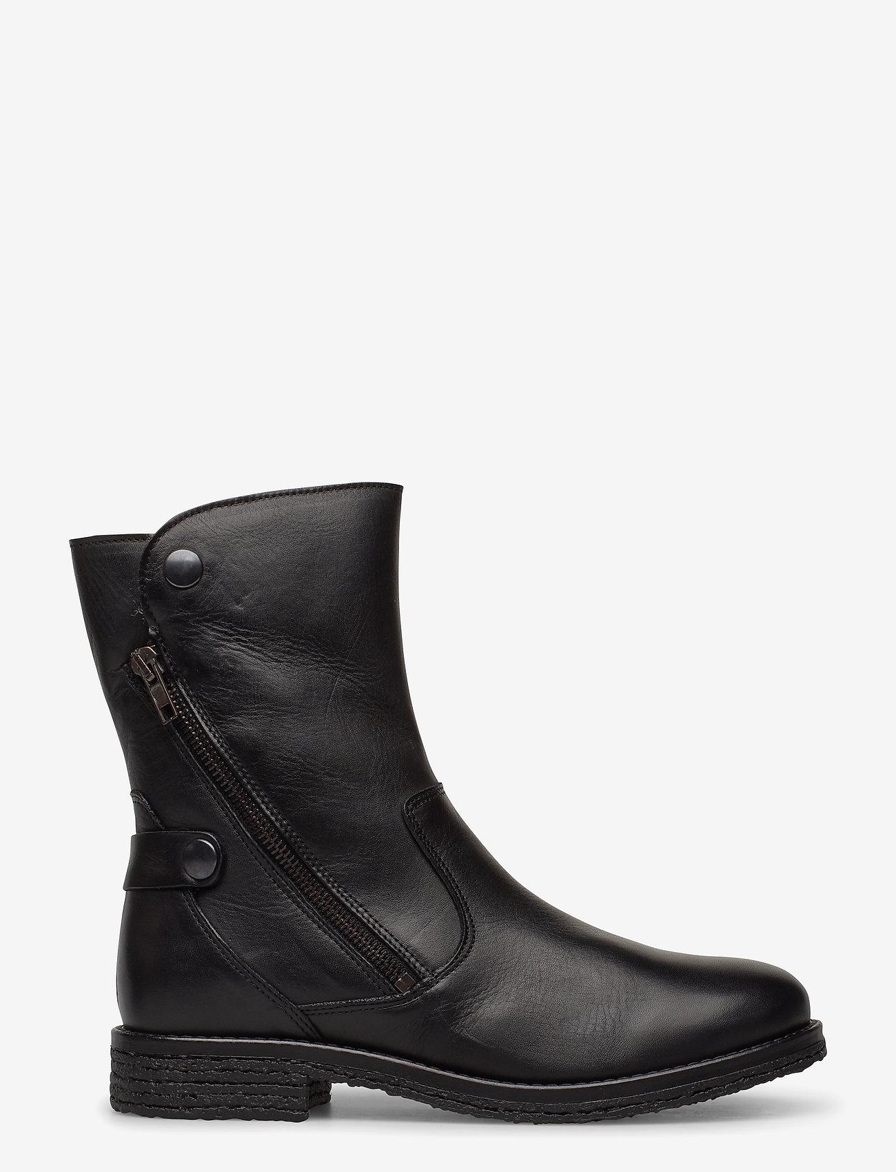 Bianco - BIAATALIA Winter Zipper Boot - flade ankelstøvler - black - 0