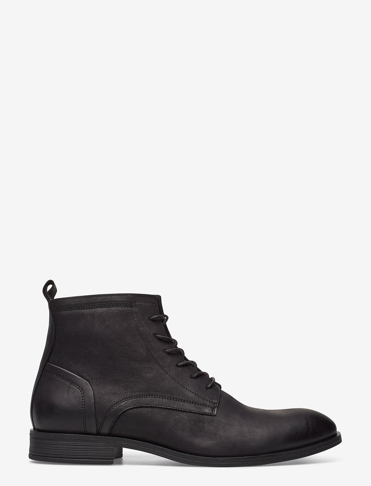 Bianco - BIABYRON Leather Lace Up Boot - veter schoenen - black - 1