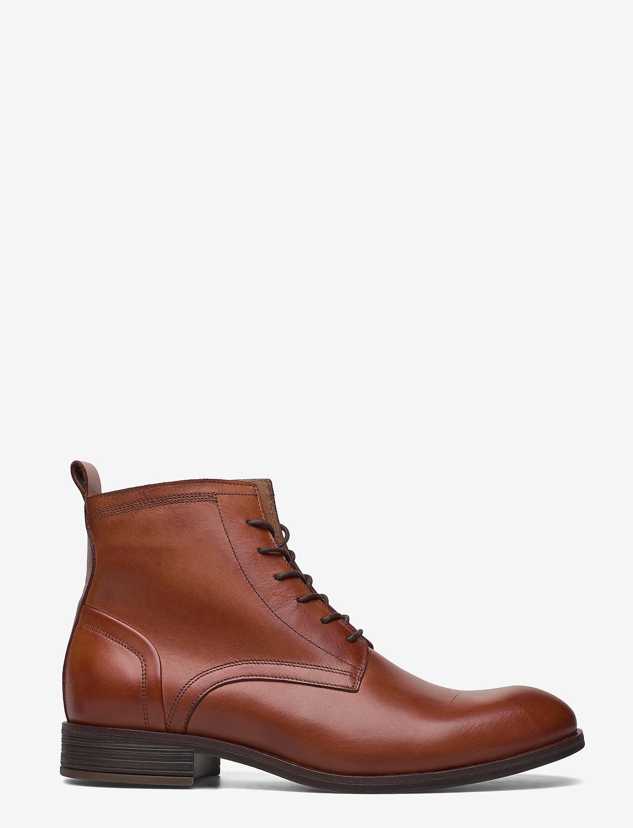 Bianco - BIABYRON Leather Lace Up Boot - veter schoenen - brandy - 1