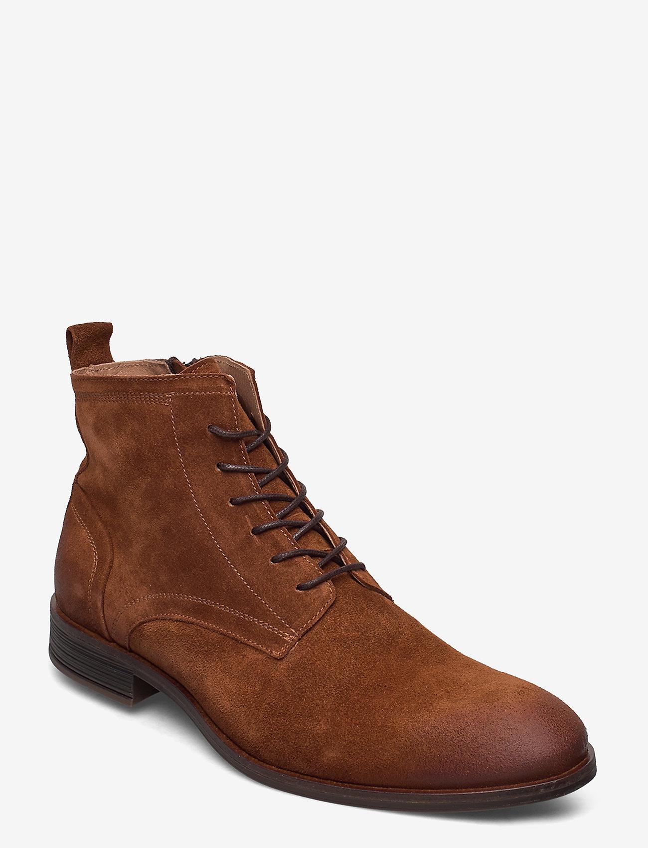 Bianco - BIABYRON Leather Lace Up Boot - veter schoenen - cognac 1 - 0