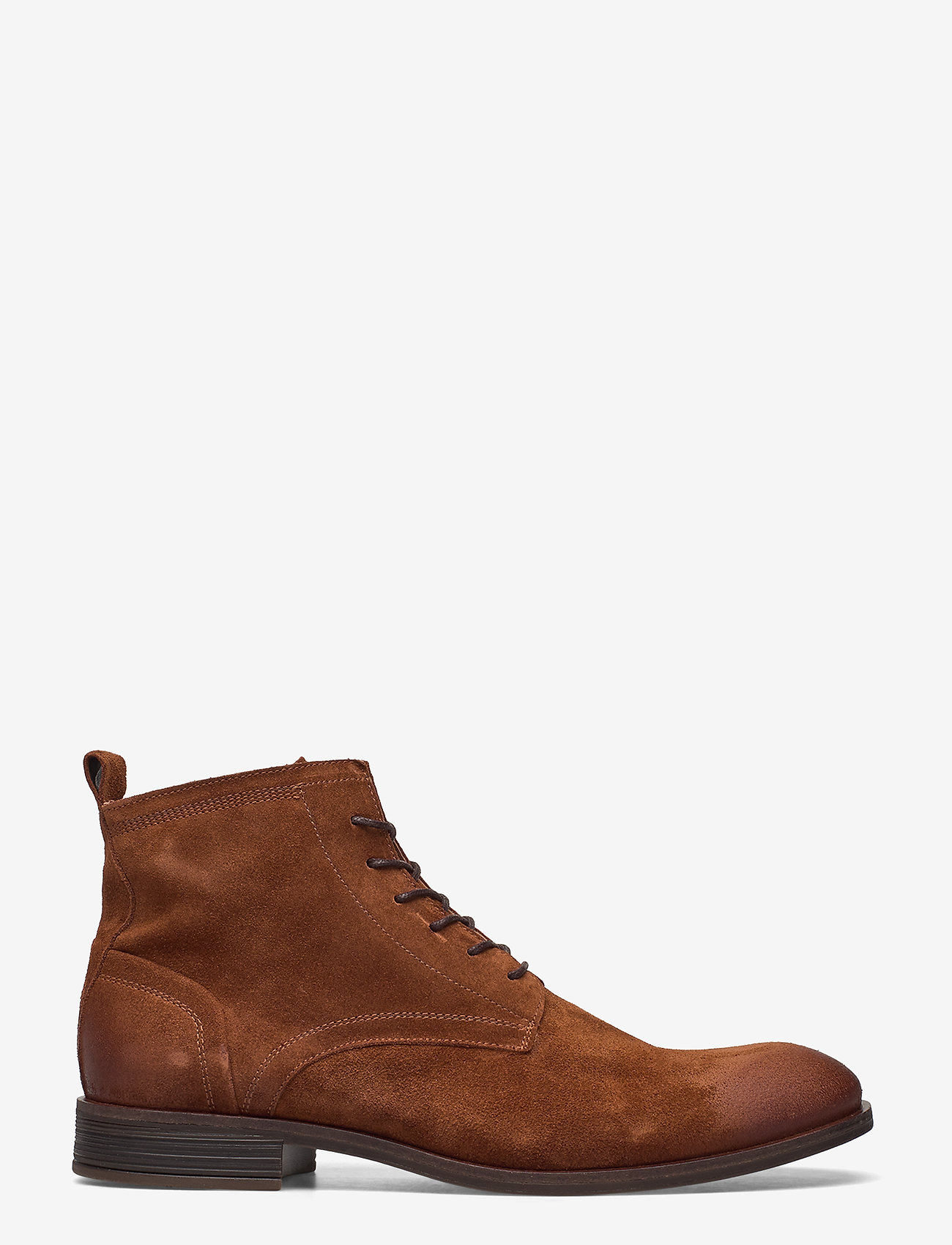 Bianco - BIABYRON Leather Lace Up Boot - veter schoenen - cognac 1 - 1