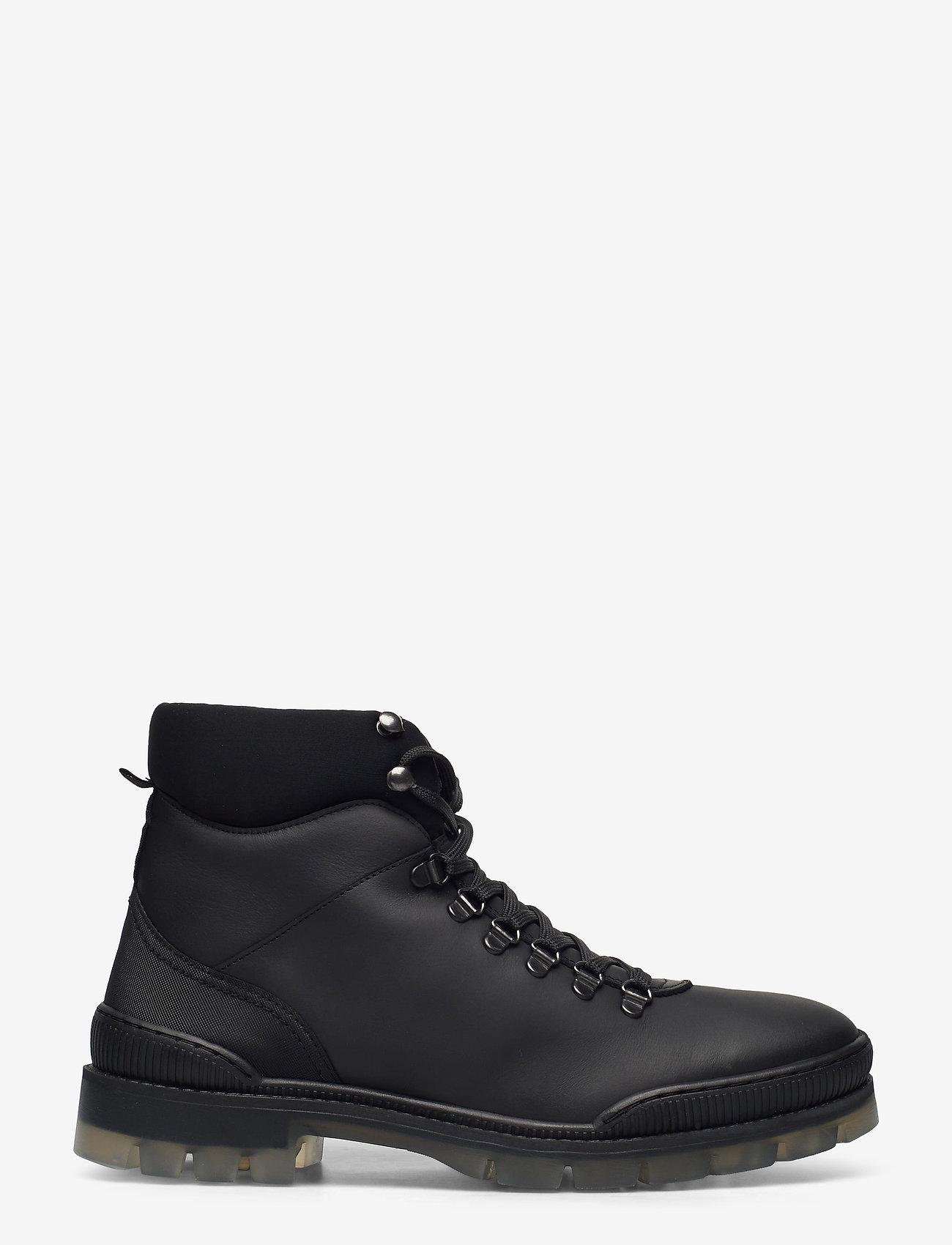 Bianco - BIACARY Leather Boot - bottes lacées - black - 1