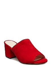 BIACATE Suede Mule Sandal - RED 1