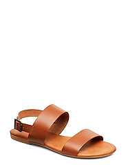 BIABROOKE Basic Leather Sandal - COGNAC