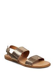 BIABROOKE Basic Leather Sandal - GOLD