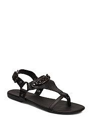 BIABECCA Verona Leather Sandal - BLACK