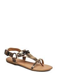 BIABECCA Verona Leather Sandal - GOLD