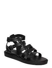BIACAILIN Leather Sandal - BLACK