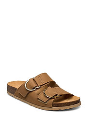 BIABETRICIA Leather Sandal - LIGHT BROWN 2