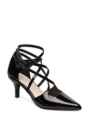 BIAADINA Thin Strap Pump - BLACK 3