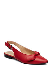 BIABERRY Leather Bow Shoe - RED