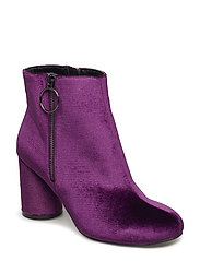 Round Heel Ankle Boot - PURPLE