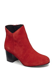 Suede V-Cut Boot - RED
