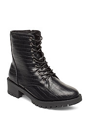 BIACLAIRE Laced-Up Boot - BLACK 9