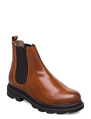 BIACYAN Leather Chelsea Boot - COGNAC