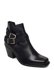 BIACEDAR Open Leather Boot - BLACK