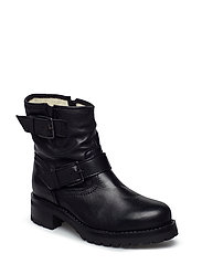 BFARINA Warm Biker Boot - BLACK
