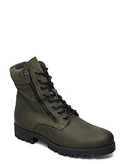 BIACOLLINS Winter Leather Boot - ARMY GREEN 2