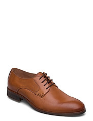 BIABYRON Leather Derby - BRANDY