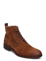 BIABYRON Leather Lace Up Boot - COGNAC 1